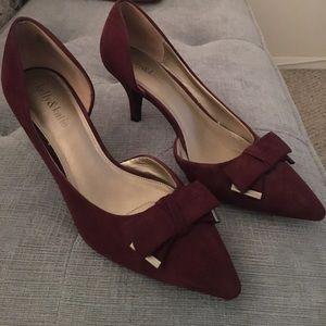 Kelly & Katie burgundy heels